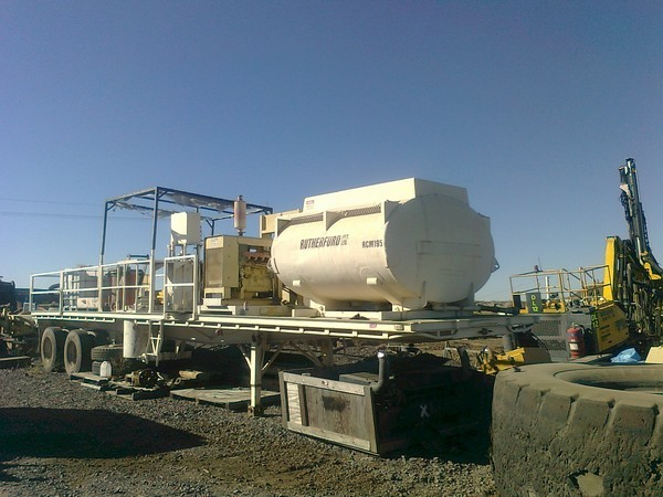 Grout Mixing 2 x axle trailer