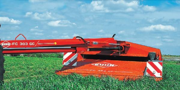 косилки. уборочная техника для сена, фуража.  Kuhn 303 RGC (Mascus ID E1EE484E).