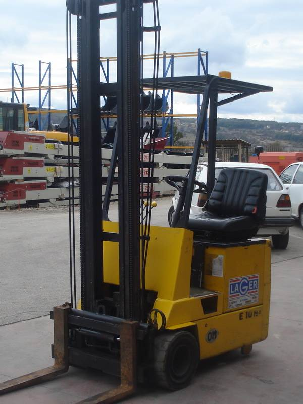 Used Fiat Om E10n Electric Forklift Trucks Year 2000 For