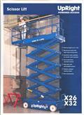 Upright X32, 2008, Scissor Lifts