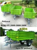 Agro PV 2t pótkocsi egy tengelyes AGRO PV 2000 pótkocsi, 2016, Самосвальні причепи