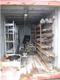 Borrstål, borrkronor i 2 containers, 2013, Tilbehør og reservedele til boreudstyr